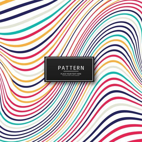 Abstrakt färgglada snygga linjer bakgrund
