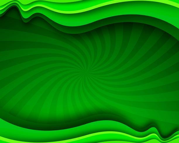 Fond ondulé d'affaires élégant vert moderne