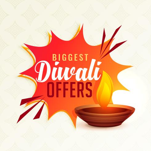 banner de oferta de festival de diwali con diya