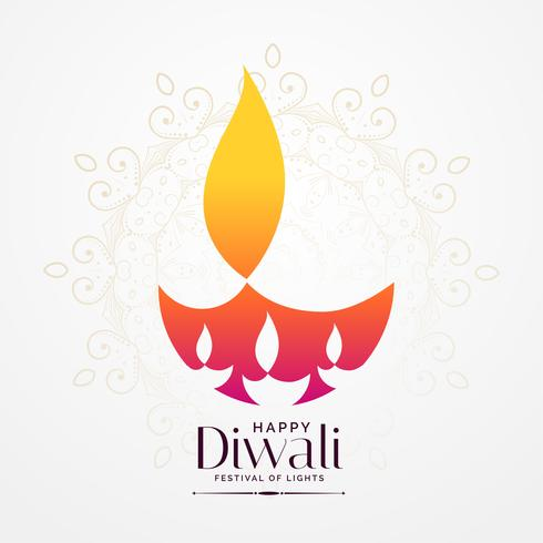 elegant diwali festival diya kreativ design