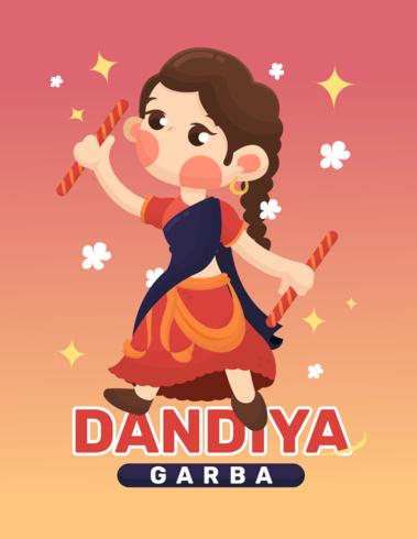 Dandiya och Garba affisch