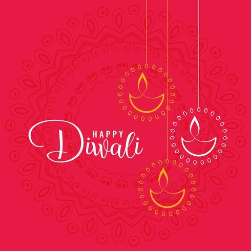 elegante feliz diwali festival saudação fundo