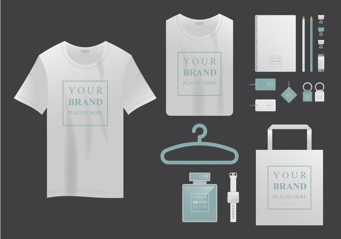 T-shirt réaliste Mock Up et brand Branding