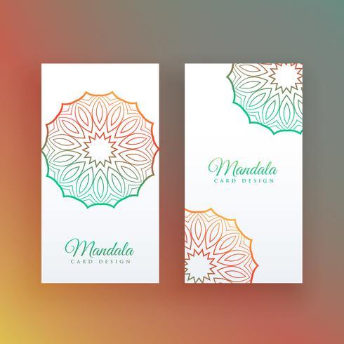 carte blanche avec décoration de mandala coloré