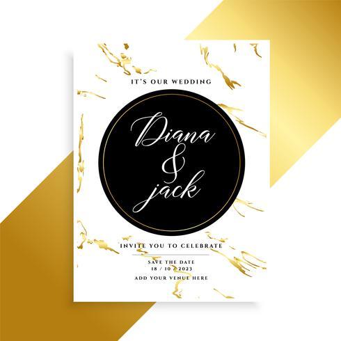 lyxig bröllopskortdesign med marmorstruktur