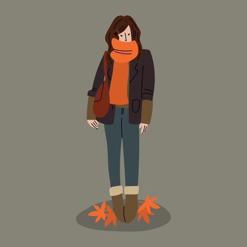 Jolie fille qui aime l'automne