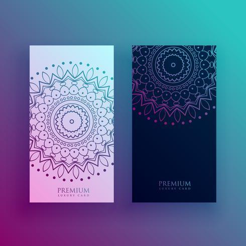 beaux modèles de conception de carte mandala