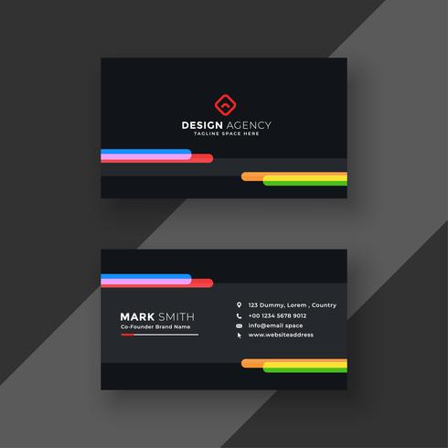 Modern black business card template download free vector art modern black business card template cheaphphosting Choice Image