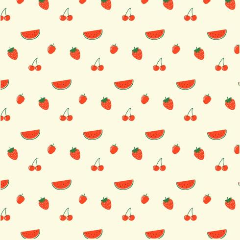 Motif de fruits rouges