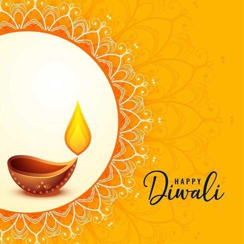 joyeux diwali bannière de voeux beau design
