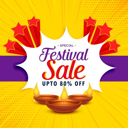 diwali sale banner or poster design for festival season
