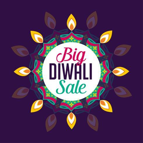 gran diseño de cartel de venta diwali
