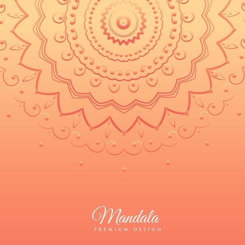 fond orange avec la conception de mandala