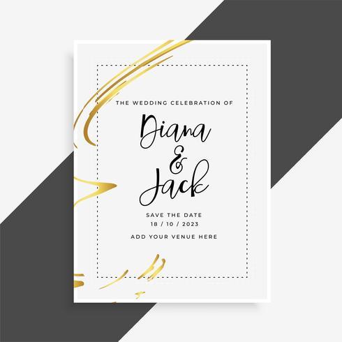 Snygg inbjudanmall för bröllopskort