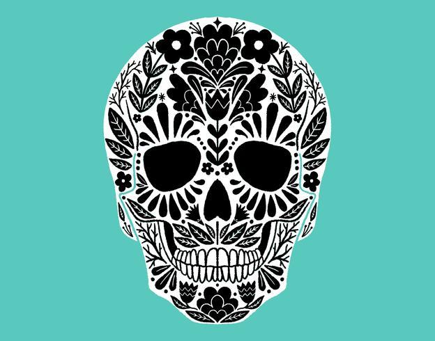 Teschio messicano di zucchero vettore