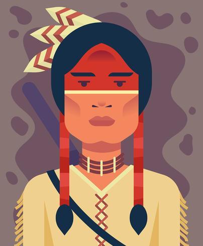 Illustrazione di persone indigene vettore