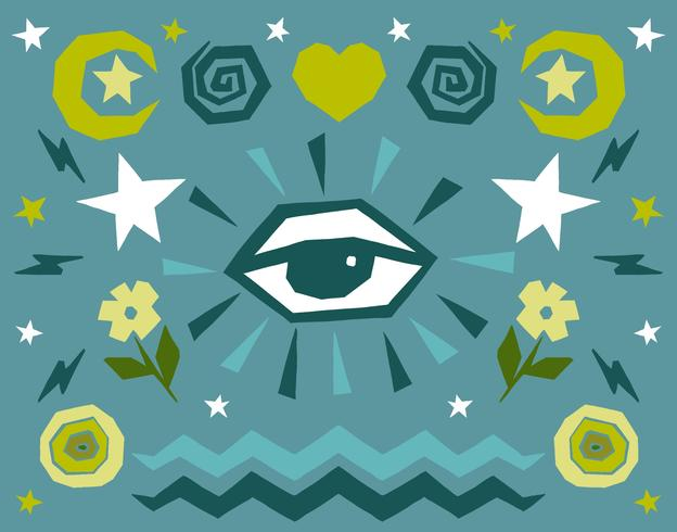Alle sehenden Augenikonen vektor