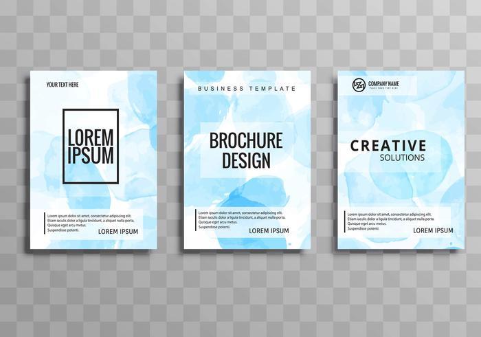 Brochura de negócios abstrata definir modelo de design