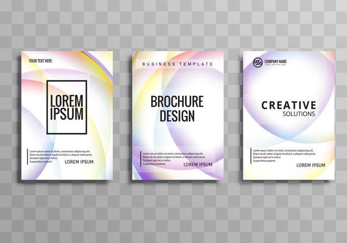 Beautiful elegant colorful business brochure template set