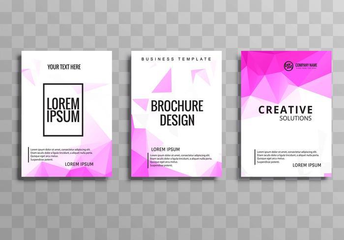 Conception de modèle de brochure entreprise coloré abstrait