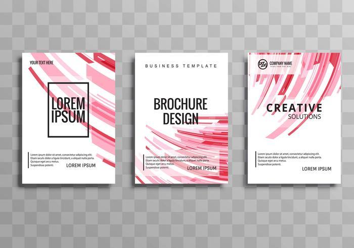 Design de modèle de brochure entreprise moderne