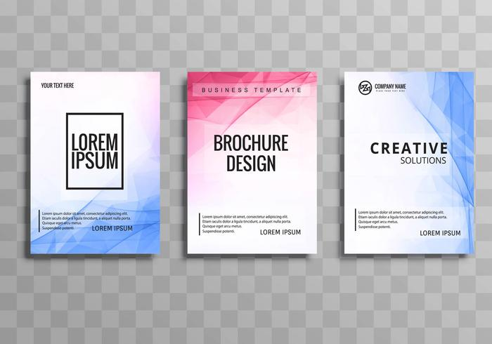 Plantilla de folleto de negocios coloridos abstractos set vector