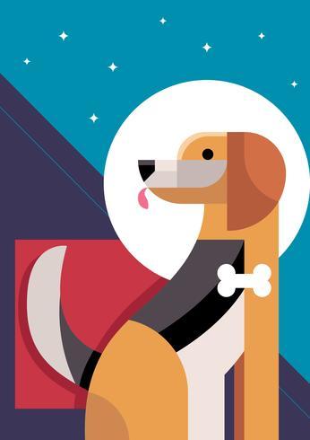 Ilustración abstracta del vector del perro