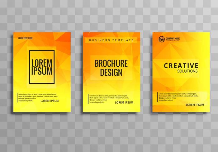 Jeu de fond de brochure d'entreprise polygone coloré abstrait