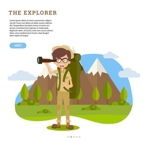 vector de naturaleza exploradora