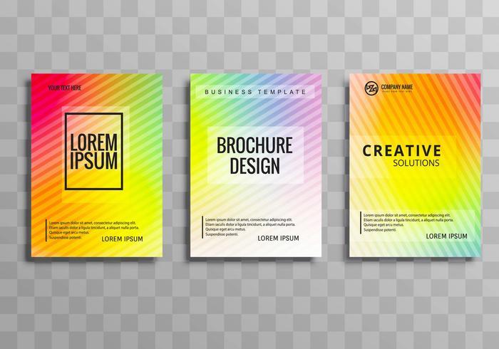 Ensemble de modèles de brochure affaires coloré moderne
