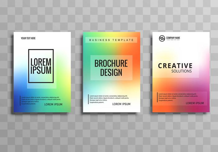 Diseño de plantilla de folleto comercial colorido abstracto