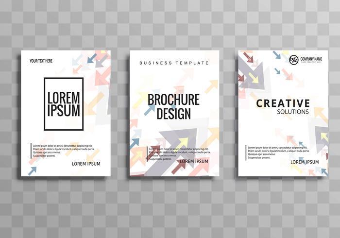 Ensemble de modèles de flèche brochure entreprise moderne