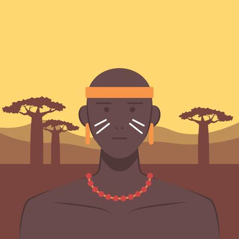 Inheemse bevolking van Zuid-Amerika vectorillustratie