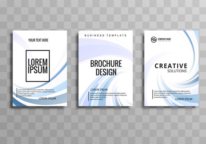 Plantilla de folleto comercial creativo abstracto ondulado