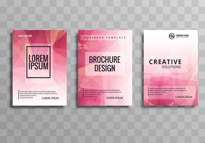 Abstrakt polygon färgstark affärsmall broschyr