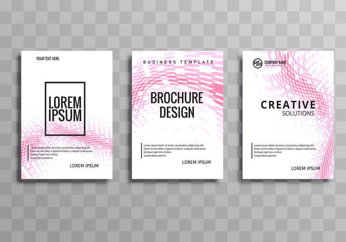 Plantilla de folleto de negocios moderno set vector