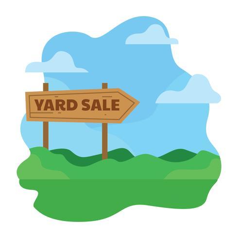 Ilustración de signo de venta de yarda