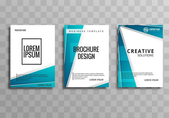 Diseño de conjunto de plantilla de folleto de negocios moderno