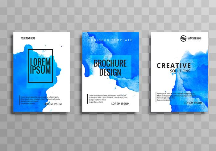 Diseño de plantilla de acuarela folleto comercial abstracto