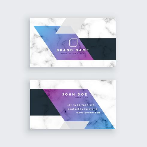 stilvolles geometrisches Marmor-Visitenkarte-Design