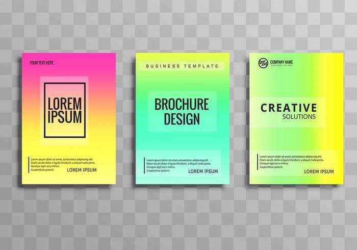 Plantilla de folleto comercial colorido abstracto