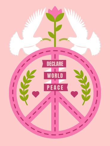 Hermosos vectores de paz y amor
