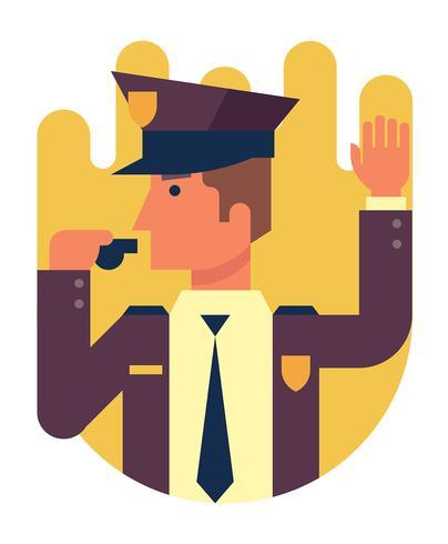 Ilustración del oficial de policía