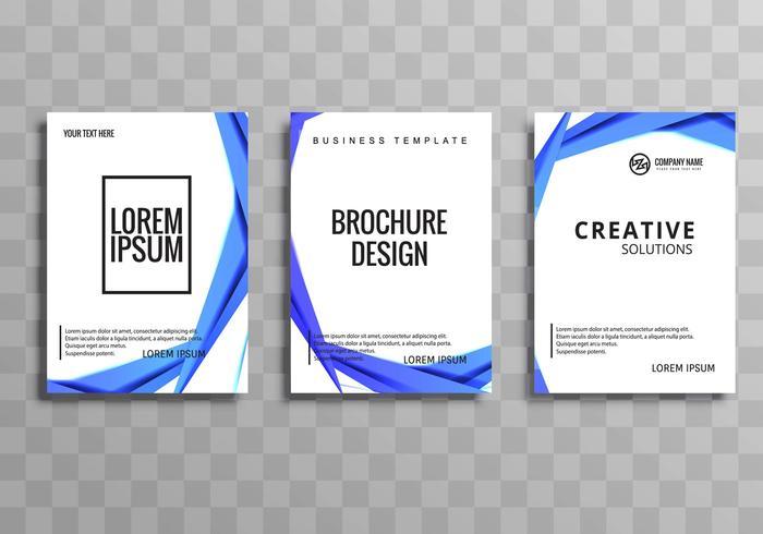 Plantilla de folleto de negocios abstractos conjunto vector