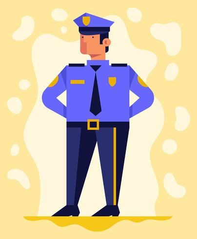 Ilustração de policial