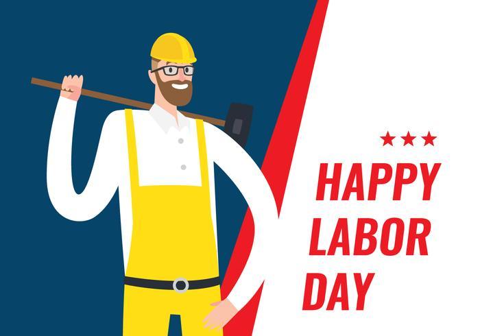 Cartel del Día del Trabajo
