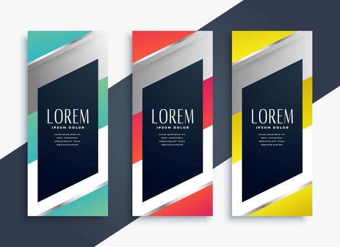 moderno conjunto geométrico de pancartas verticales