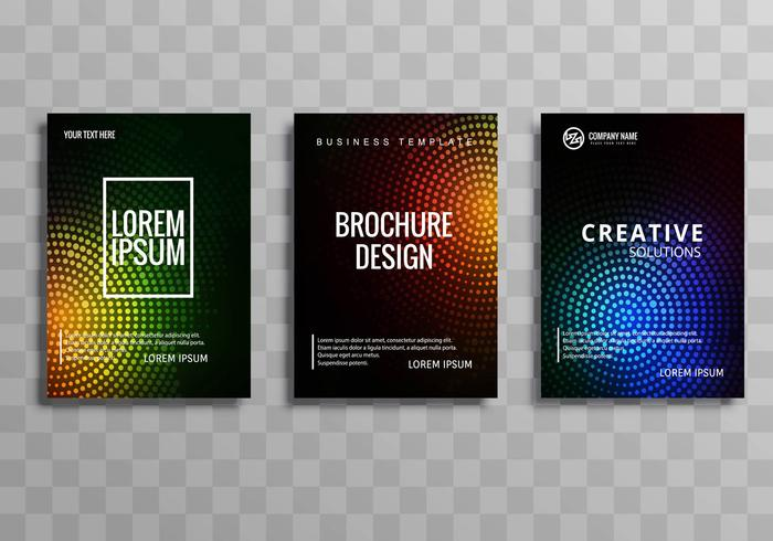 Conjunto de plantillas coloridas folleto comercial moderno