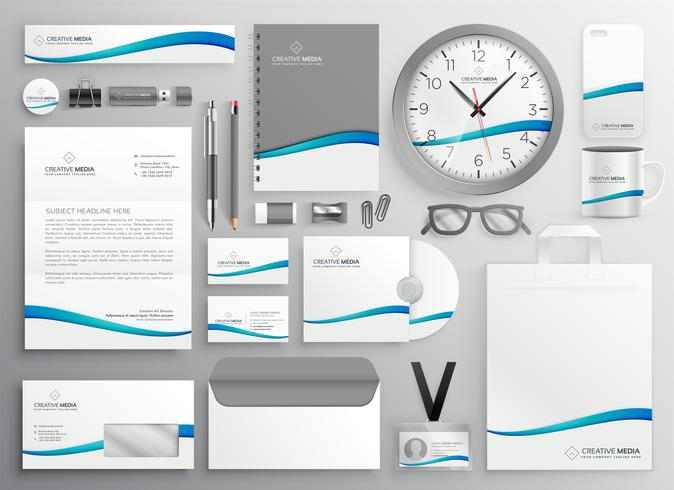 moderno diseño de papelería de negocios limpio