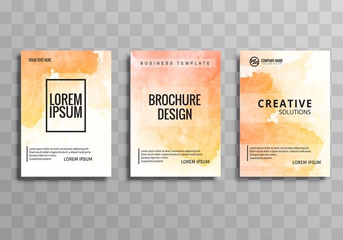 Conjunto de plantillas de folleto colorido negocio abstracto vector